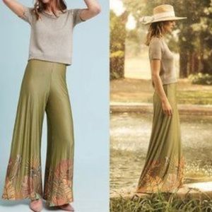 Anthropologie / FARM Rio - Palm Print Wide pants